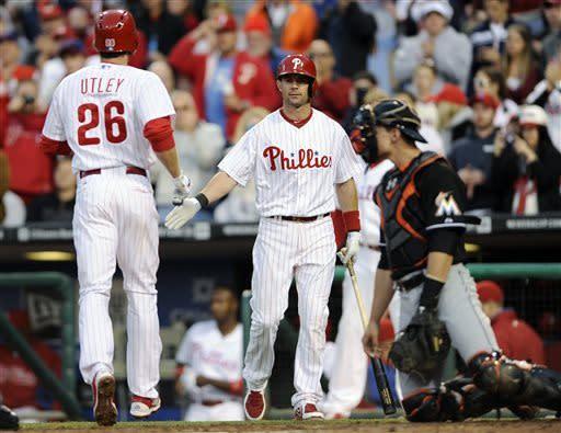 Pettibone, 3 homers push Phils over Marlins
