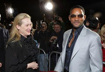 Meryl Streep and Will Smith at the AFI Fest opening night gala presentaion of United Artists' Lions for Lambs