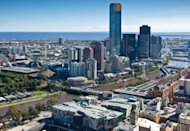 Downtown Melbourne, Australia. Australia Day is January 26