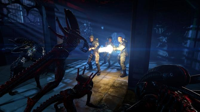 """This video game image released by Sega shows a scene from """"Aliens: Colonial Marines."""" (AP Photo/Sega)"""