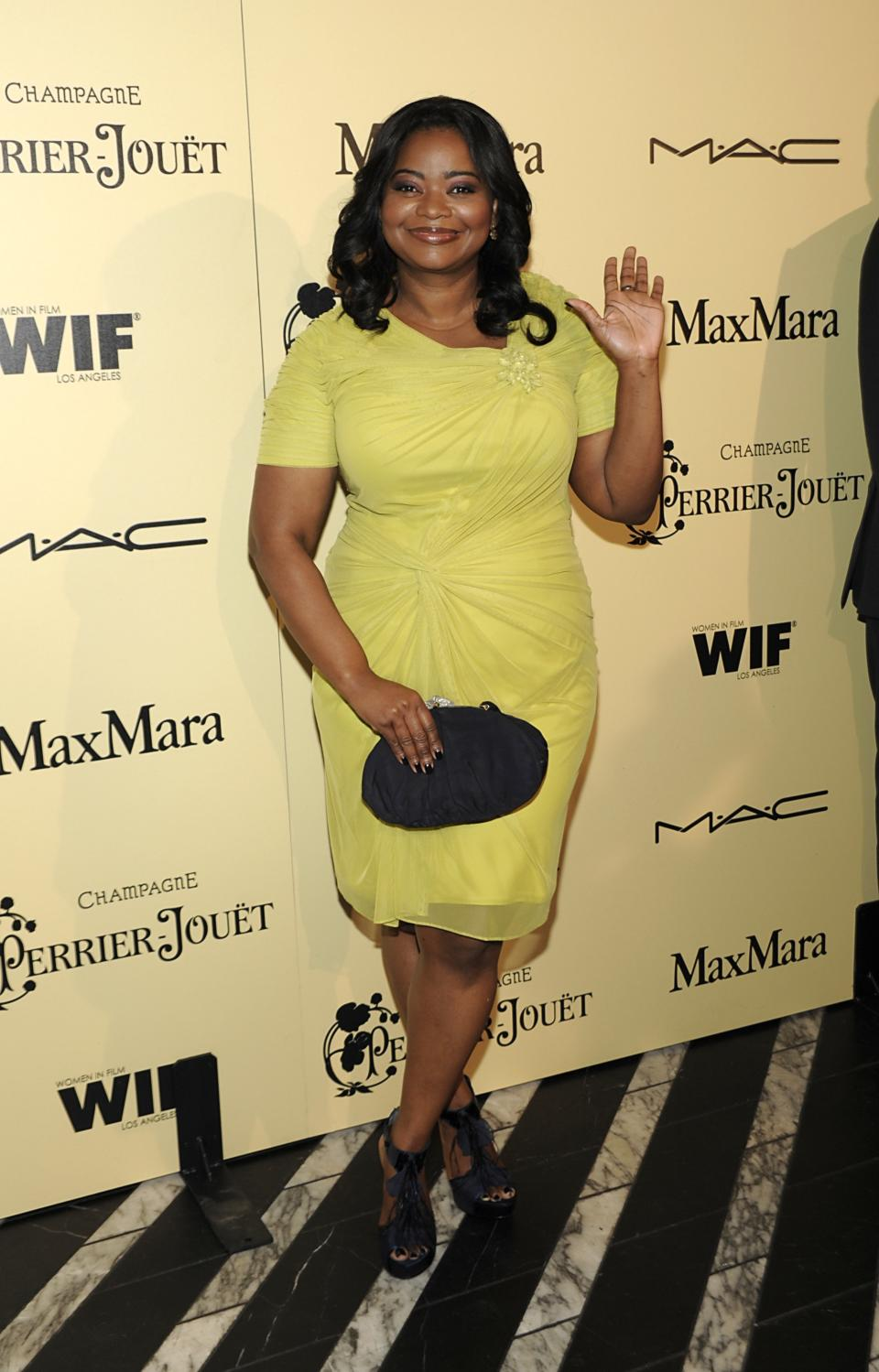 Actress Octavia Spencer arrives at the Women In Film 2012 Academy Award Party in West Hollywood, Calif. on Friday, Feb. 24, 2012. (AP Photo/Dan Steinberg)