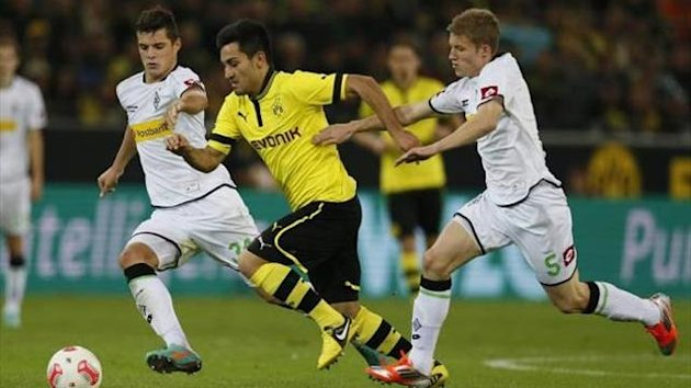 Ilkay Gundogan in action against Gladbach (Imago)