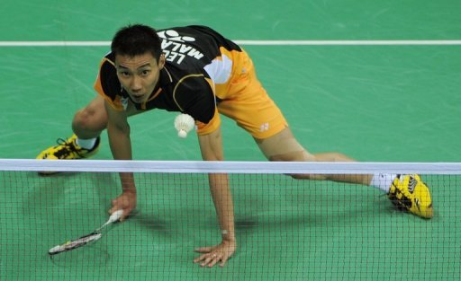 Malaysia's Lee Chong Wei, seen here in April, sustained a serious ankle injury at the Thomas Cup Tuesday