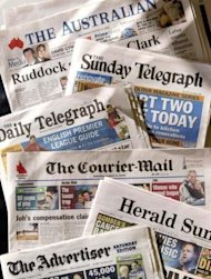 The mastheads of News Ltd&#39;s Australian papers. Rupert Murdoch&#39;s Australian arm News Limited on Wednesday made an Aus$1.97 billion (US$2.0 billion) takeover bid of James Packer&#39;s majority-owned media investment firm Consolidated Media Holdings