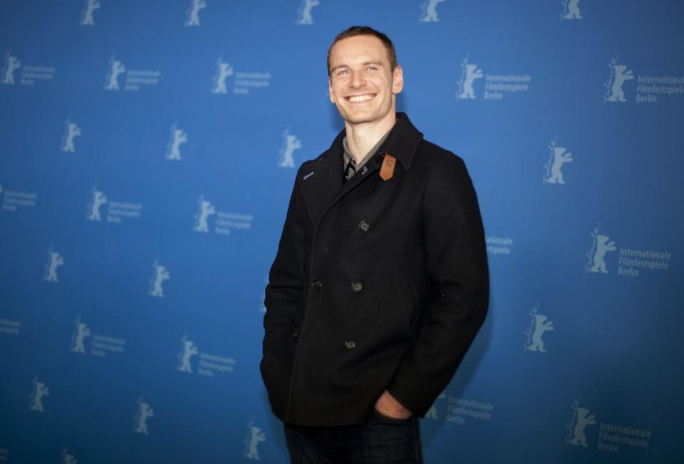 Actor Michael Fassbender poses for the photo call of the film Haywire at the 62 edition of the Berlinale, International Film Festival in Berlin, Wednesday, Feb. 15, 2012. (AP Photo/Markus Schreiber)