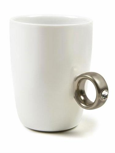 2 Carat Platinum Ring Coffee Cup