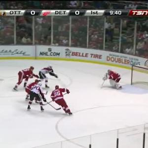 Petr Mrazek Save on Mike Hoffman (10:22/1st)