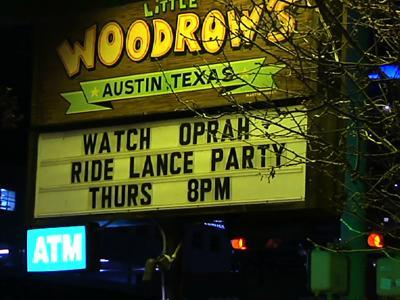 Austin Residents Watch Armstrong Interview