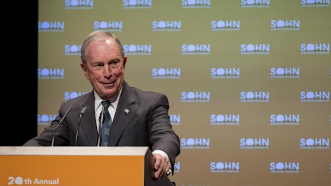 Michael Bloomberg speaks during the Sohn Investment Conference in New York