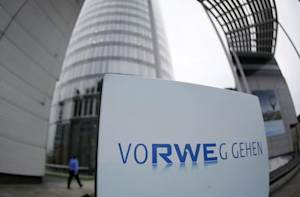 A view of the headquarters of German utility RWE in Essen