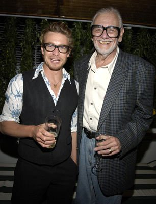 Simon Baker and director George A. RomeroGeorge A. Romero's Land of the Dead Party