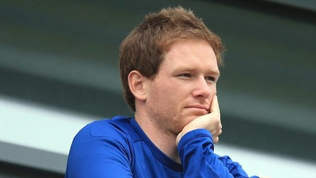 England's Eoin Morgan hit a superb century against his home country