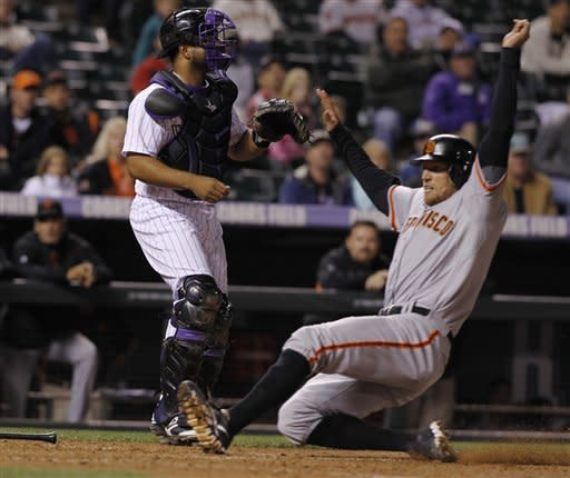 Lincecum pitches Giants past Rockies 8-3