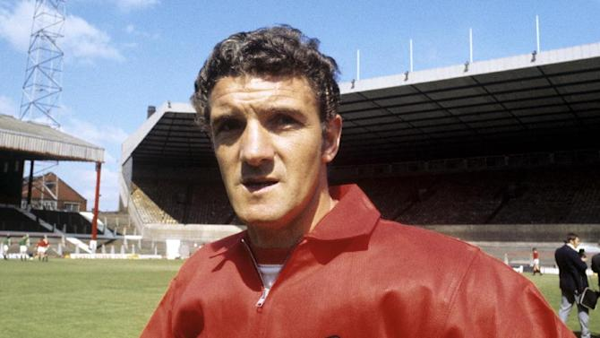FILE - This is an undated file image of Manchester United's former captain Bill Foulkes. Foulkes, who survived the 1958 Munich air disaster, died Monday, Nov. 25,. 2013 the club said. He was 81. Foulkes, who left a mining job to join United in 1950, went on to play 688 times after making his debut in 1952. Only Ryan Giggs, Bobby Charlton and Paul Scholes have played more times for the club. (AP Photo/ PA, File)