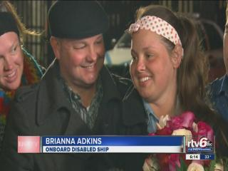 Noblesville teen on cruise ship reunited with parents