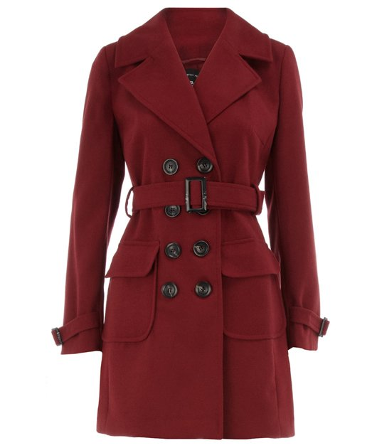 This jacket is an almost exact colour match to the one Kate wore, plus it’s rocking the same belted look too – bonus!  £59, dorothyperkins.com