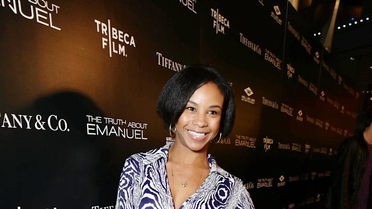 Aasha Davis seen at the TIFFANY & CO. Los Angeles red carpet event for Tribeca Film and Well Go USA's release of THE TRUTH ABOUT EMANUEL, on Wednesday, Dec. 4, 2013 in Los Angeles. (Photo by Eric Charbonneau/Invision for Tribeca Film/AP Images)
