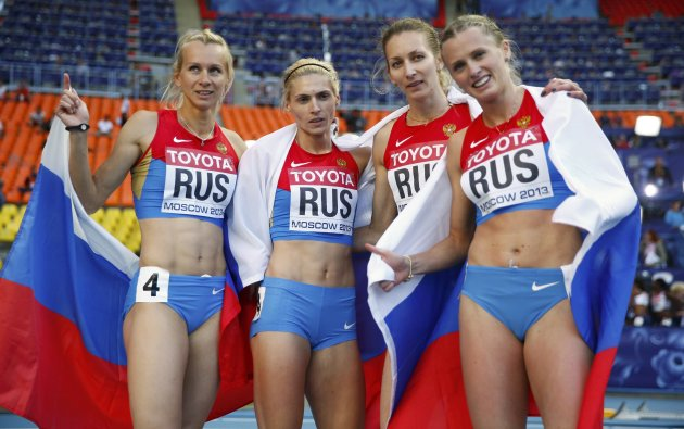 2013 World Championships in Athletics �13 Womens 4 � 400 metres relay