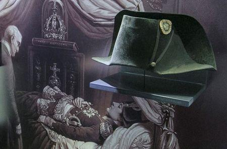 The two-cornered hat worn by French Emperor Napoleon during the Battle of Waterloo in 1815 is seen at the Wellington Museum upon its delivery, in Waterloo