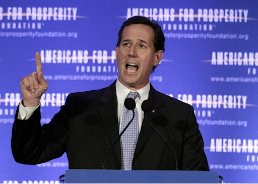 Republican presidential candidate, former Pennsylvania Sen. Rick Santorum speaks at the AFP Defending the Dream Conference in Milwaukee, Wis., Saturday, March 24, 2012.