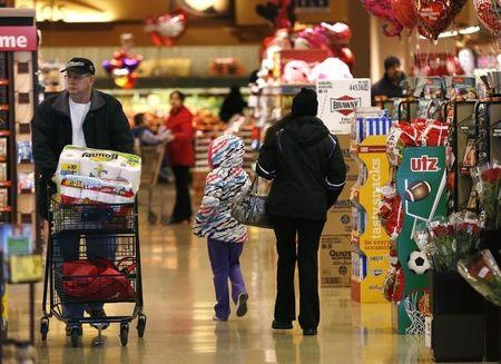 Shoppers roam the aisles at the Safeway store in Wheaton Maryland