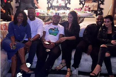 Kanye West watched Mayweather-Pacquiao with Dwyane Wade and Carmelo Anthony