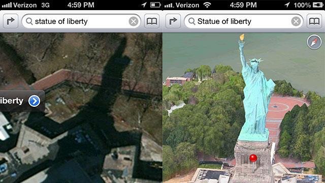 Apple Maps Fixes the Statue of Liberty