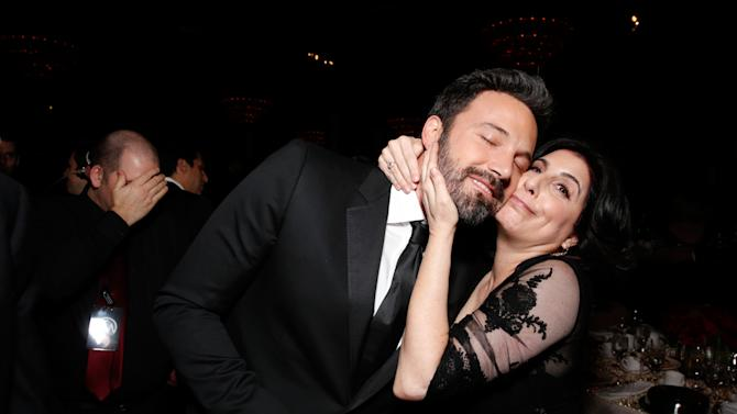 Ben Affleck, left, and  Warner Brothers Worldwide Marketing President Sue Kroll attend the 24th Annual Producers Guild (PGA) Awards at the Beverly Hilton Hotel on Saturday Jan. 26, 2013, in Beverly Hills, Calif. (Photo by Todd Williamson/Invision for Producers Guild/AP Images)