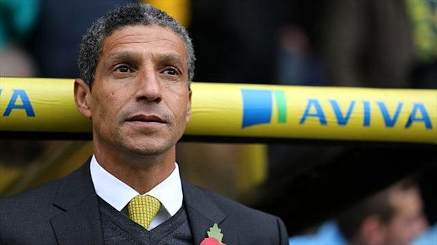 Chris Hughton of Norwich City (PA Photos)