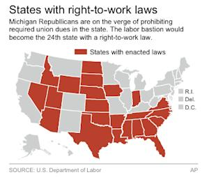 States that have right-to-work laws
