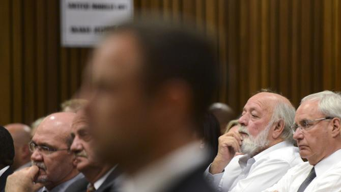 Barry Steenkamp attends the sentence hearing of South African Olympic and Paralympic track star Pistorius at the North Gauteng High Court in Pretoria