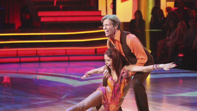 "Anna Trebunskaya and Jack Wagner perform on ""Dancing With the Stars."""