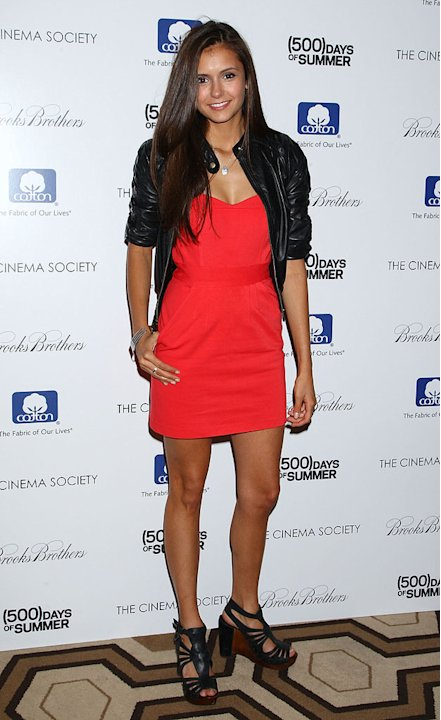 "Nina Dobrev attends a screening of ""500 Days Of Summer"" hosted by The Cinema Society with Brooks Brothers and Cotton at the Tribeca Grand Screening Room on July 9, 2009 in New York City."