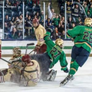 Notre Dame's Goalie Leads Defeat of Boston College