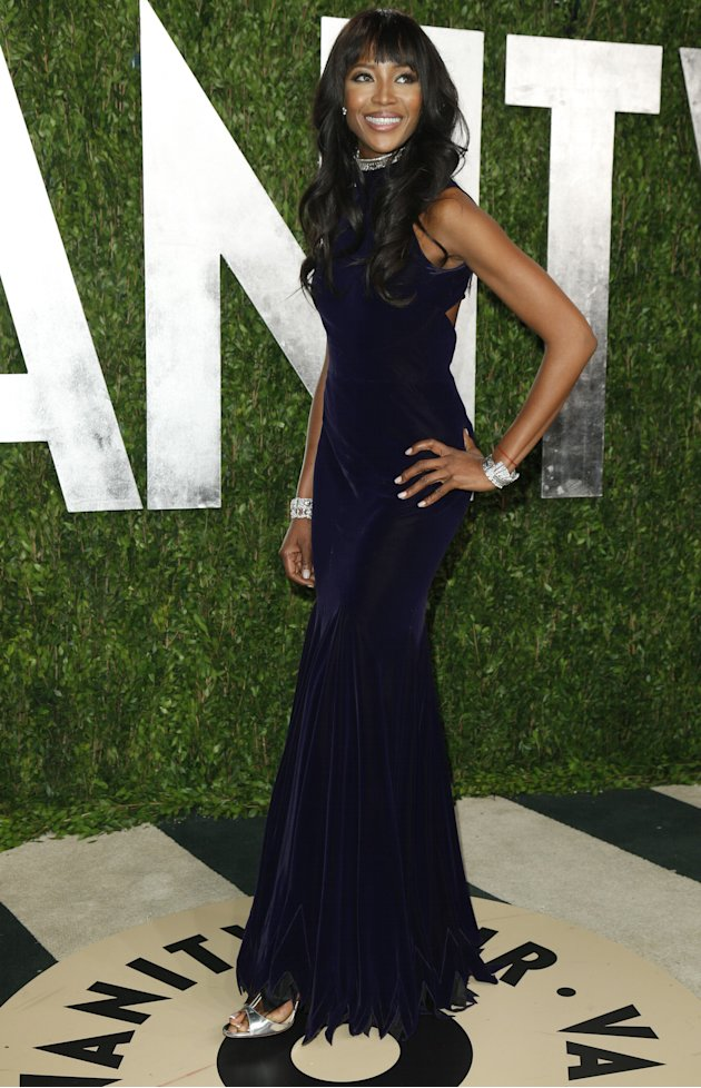 Naomi Campbell attends the 2013 Vanity Fair Oscars Party in West Hollywood