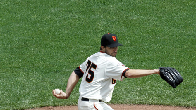 San Francisco Giants starting pitcher Barry Zito throws to the San Francisco Giants during the first inning of a baseball game on Friday, April 5, 2013, in San Francisco. (AP Photo/Tony Avelar)
