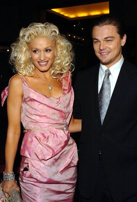 Gwen Stefani and Leonardo DiCaprio at the Hollywood premiere of Miramax Films' The Aviator