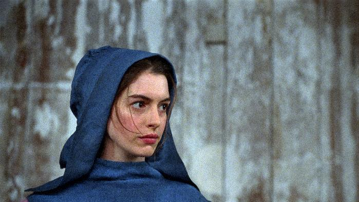 """This film image released by Universal Pictures shows Anne Hathaway as Fantine in a scene from """"Les Miserables."""" (AP Photo/Universal Pictures)"""