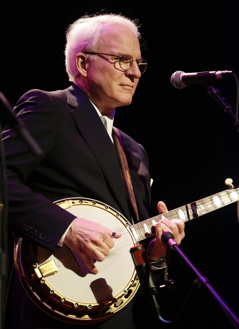Steve Martin and the Steep Canyon Rangers perform at the International Bluegrass Music Association Awards show on Thursday, Sept. 27, 2012, in Nashville, Tenn. (AP Photo/Mark Humphrey)