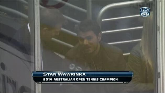 Tennis star Stan Wawrinka attends Kings game
