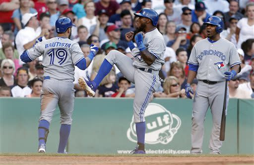 Bautista HRs twice, Blue Jays beat Red Sox 6-2