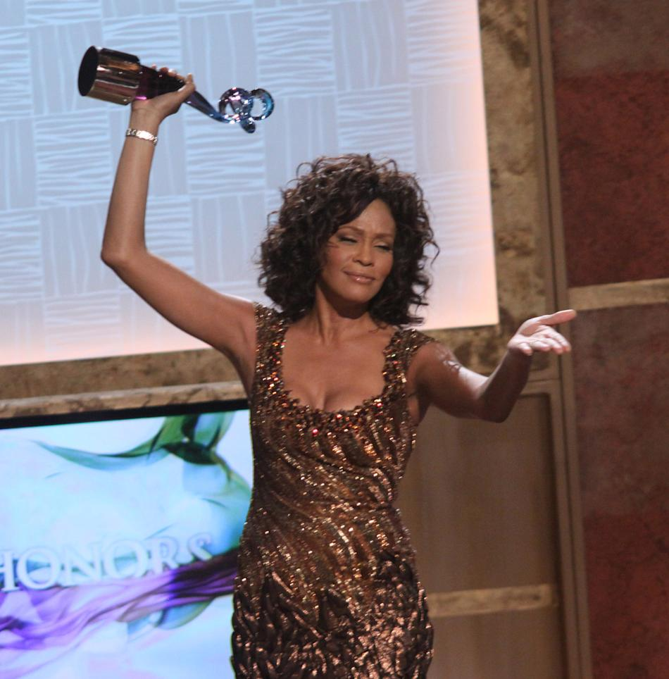 Receiving her BET Honors award for Entertainer in 2010