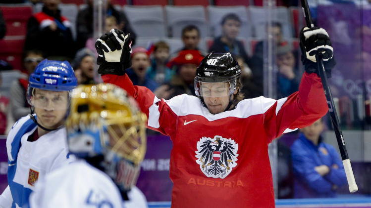 Finland beats Austria 8-4 in Olympic hockey