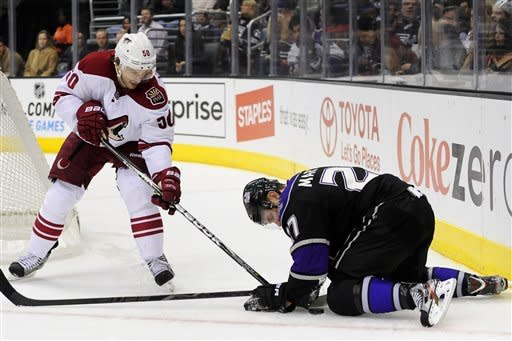 Quick gets 1st shutout as Kings blitz Coyotes 4-0