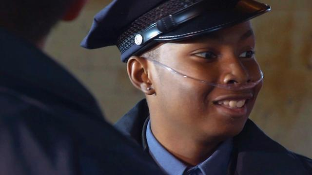 Young sickle cell patient becomes cop for a day and saves Christmas
