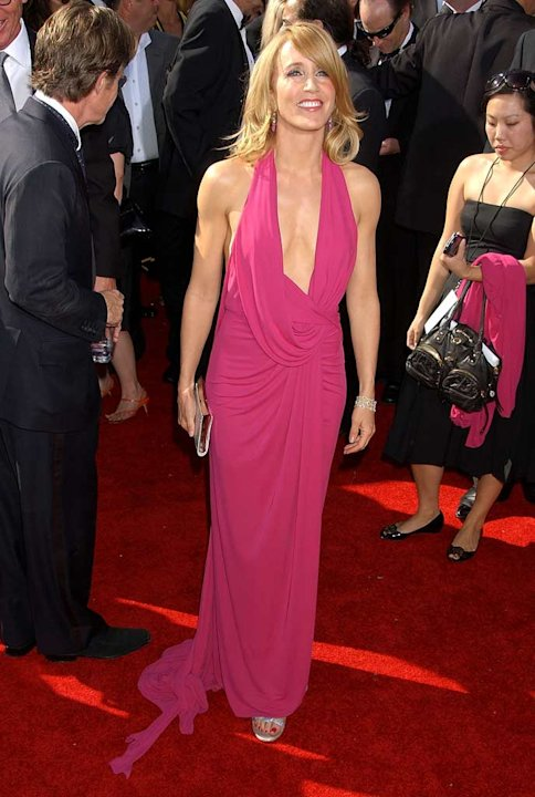 [ytvperson:id=37799]Felicity Huffman[/ytvperson] arrives at the 59th Annual Primetime Emmy Awards at the Shrine Auditorium on September 16, 2007 in Los Angeles, California. Felicity Huffman