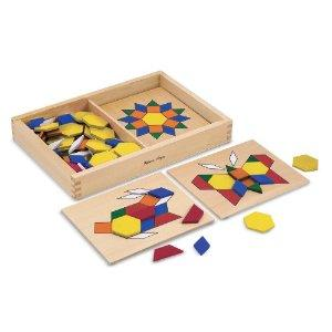 Melissa & Doug Pattern Blocks and Boards ($16.64)