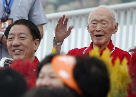 Singapore's Lee Kuan Yew remains in intensive care, health improves slightly