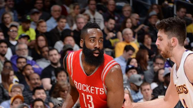 James Harden gets 37, Rockets rout spiraling Lakers 99-87
