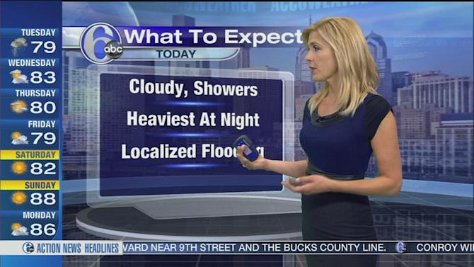 AccuWeather: Rain today, heavy at times